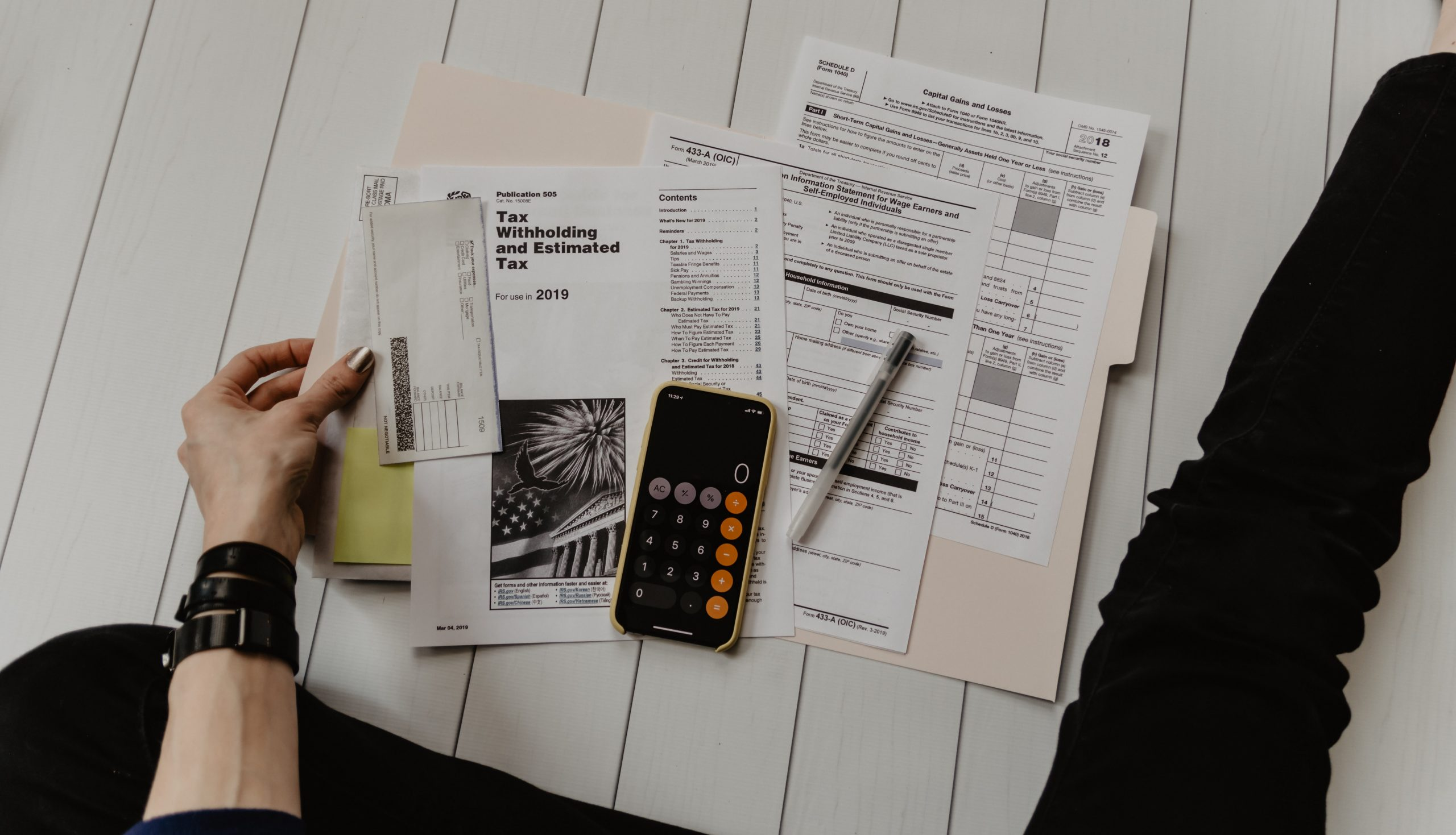tax documents spread out tax tips